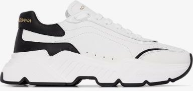 White Daymaster leather sneakers