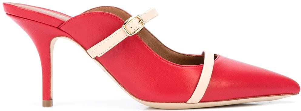 Melody 70mm mules - Red
