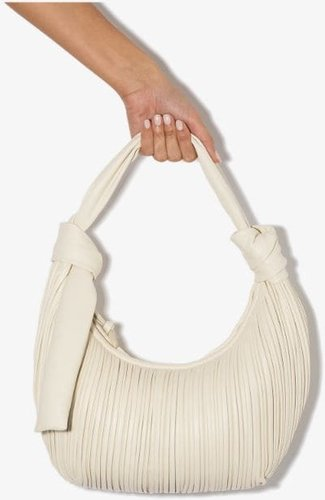 white Neptune leather shoulder bag