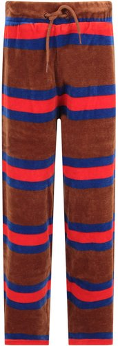 Brown Sweatpants For Boy With Colorful Stripes