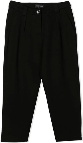 Black Trousers With Back Application