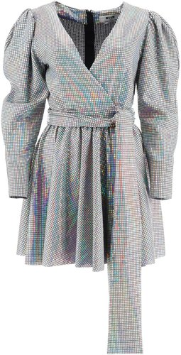 Mini Dress With Iridescent Facets