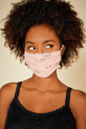 Savona Pleated Face Mask | One Size Brown Lace Accessory
