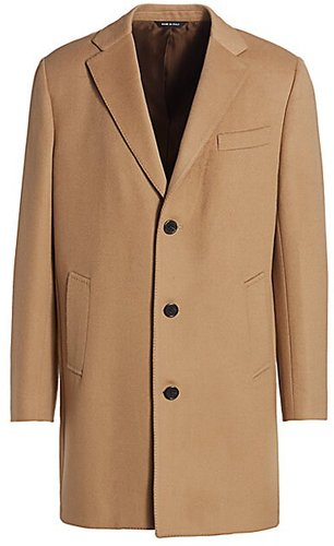 COLLECTION Wool Top Coat - Camel - Size Large