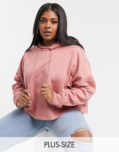 New Neutrals Plus cropped hoodie in ash pink