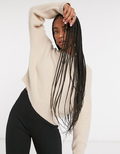 soft touch crew neck sweater in camel-Beige