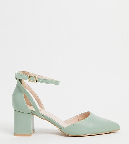 Hazy mid heeled shoes in sage-Green
