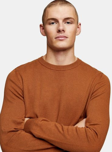 considered twist knitted sweater in camel-Neutral