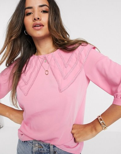 blouse with oversized prairie collar in pink