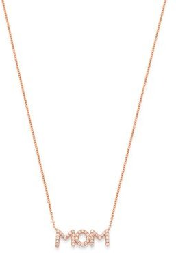Diamond Mom Pendant Necklace in 14K Rose Gold, 0.08 ct. t.w. - 100% Exclusive