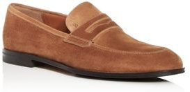 Webb Suede Apron-Toe Penny Loafers