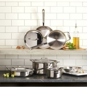 D5 Stainless Brushed 5-Ply Bonded 10-Piece Cookware Set