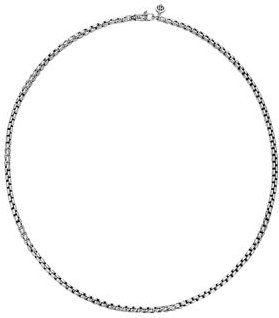 Sterling Silver Classic Chain Woven Box Chain Necklace, 26