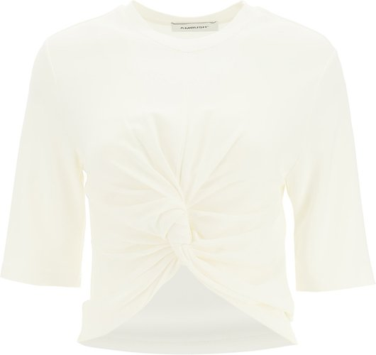 T-SHIRT WITH KNOT XS White