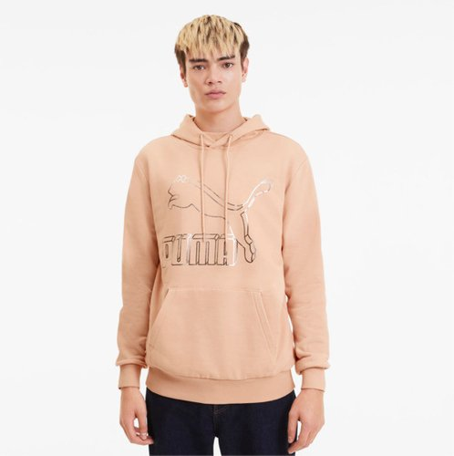Classics Men's Logo Hoodie in Pink Sand, Size L