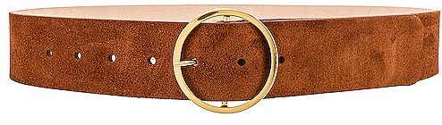 Molly Suede Belt in Cognac. - size L (also in M, S, XS)