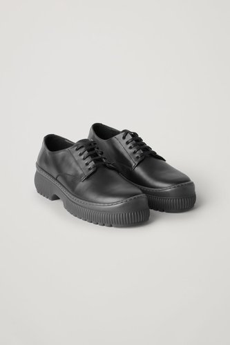 LEATHER CHUNKY DERBY SHOES