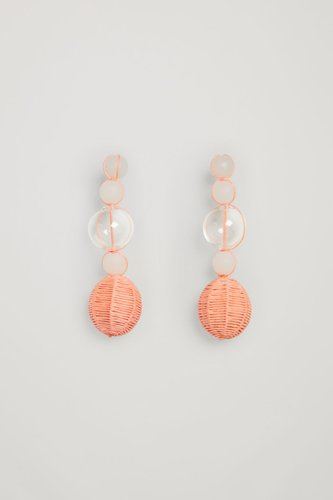 RECYCLED GLASS THREADED EARRINGS