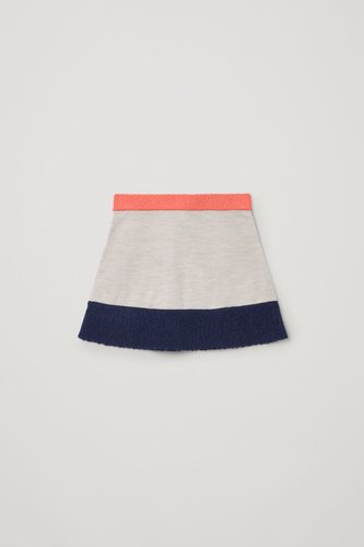 COLOR-BLOCK KNITTED SKIRT