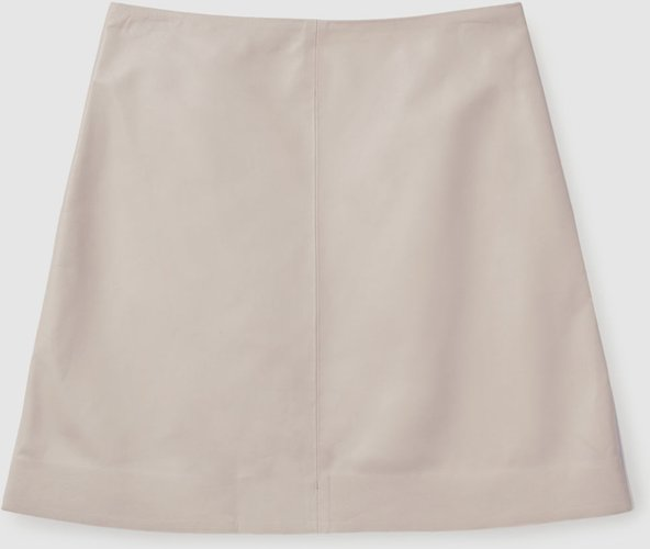 SHORT A-LINE LEATHER SKIRT