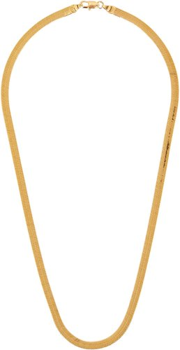 Liquid gold-plated chain necklace