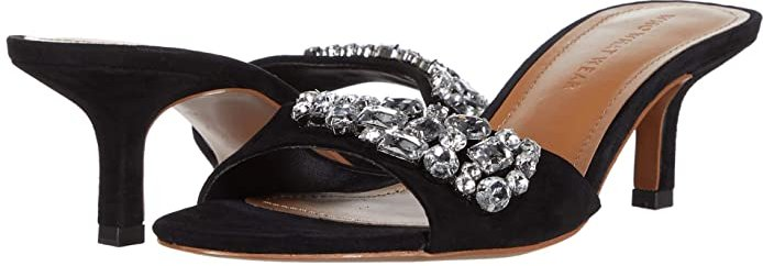 Paige with Stones (Black Suede) Women's Shoes