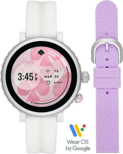 kate spade new york Quail silicone strap smartwatch gift set, 42mm at Nordstrom Rack