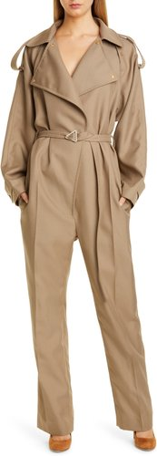 Belted Tricot Jumpsuit