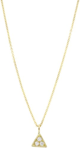 Bony Levy 18K Yellow Gold Pave Diamond Petite Triangle Pendant Necklace - 0.07 ctw at Nordstrom Rack