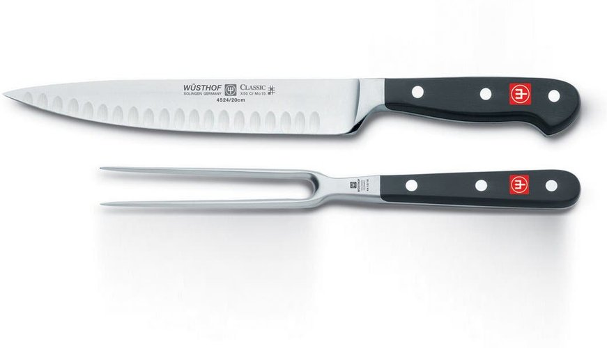 Wusthof Cutlery Wusthof Classic 2-Piece Stainless Steel Carving Set at Nordstrom Rack