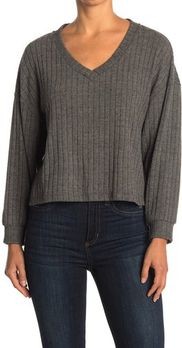 Lush Boxy Wide Ribbed Knit Sweater at Nordstrom Rack