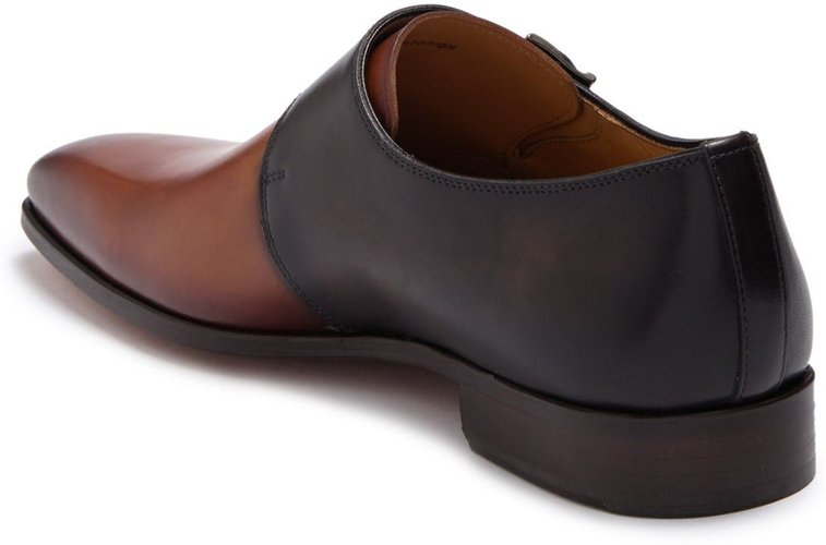 Magnanni Exelero Two Tone Leather Double Monk Strap Loafer at Nordstrom Rack