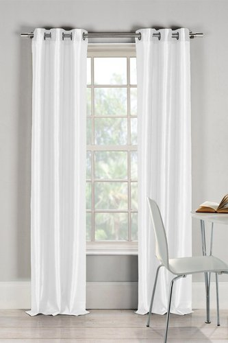 Duck River Textile Bali Faux Silk Grommet Panel Curtains - Set of 2 - White at Nordstrom Rack