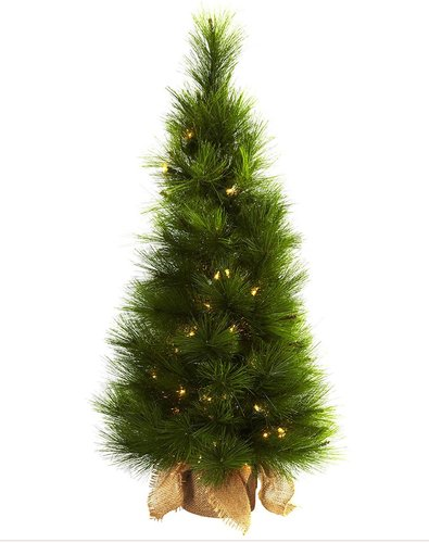 """NEARLY NATURAL 36"""" Christmas Tree with Burlap Bag & Clear Lights at Nordstrom Rack"""