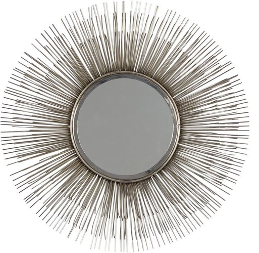 """Willow Row Large Round Silver Metal Starburst Mirror Wall Decor - 28.5"""" at Nordstrom Rack"""