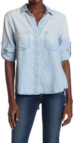 Cloth & Stone Split Back Button Down Blouse at Nordstrom Rack