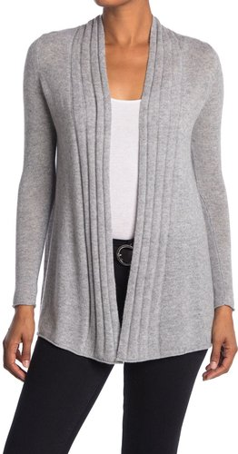 Kinross Ribbed Pattern Cashmere Cardigan at Nordstrom Rack