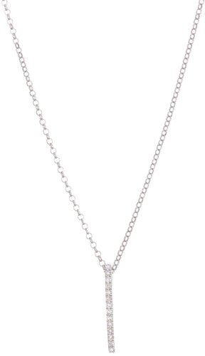 Carriere Sterling Silver Diamond Bar Pendant Necklace - 0.08 ctw at Nordstrom Rack