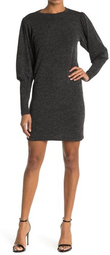RD Style Rib Balloon Sleeve Hacci Sweater Dress at Nordstrom Rack