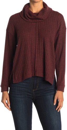 Lush Ribbed Cowl Neck Top at Nordstrom Rack