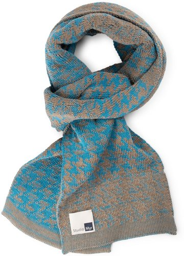 Sophisticated Cotton Scarf, Elements-Teal.
