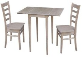 Small Drop Leaf Table with Two Chairs