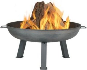 Outdoor Cast Iron Wood-Burning Large Fire Pit Bowl