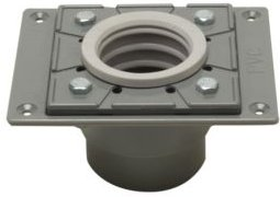Pvc Shower Drain Base with Rubber Fitting Bedding