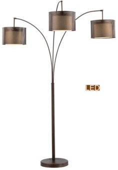"""Lumiere Ii 83"""" Led Arched Floor Lamp with Dimmer"""
