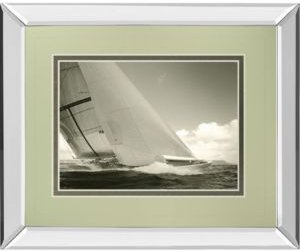 "Sea Spray I by Michael Kahn Mirror Framed Print Wall Art - 34"" x 40"""