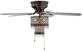 """Arin 52"""" 4-Light Indoor Hand Pull Chain Ceiling Fan with Light Kit"""