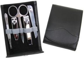 Royce Genuine Leather Manicure Kit with Stainless Steel Implements