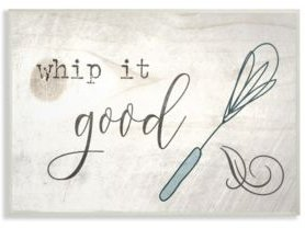 """Whip It Good Whisk Wall Plaque Art, 10"""" x 15"""""""