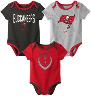 Baby Tampa Bay Buccaneers Icon 3 Pack Bodysuit Set
